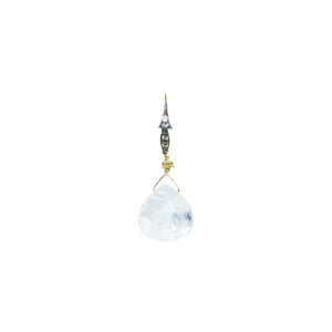 Moonstone Gold Drop Earrings