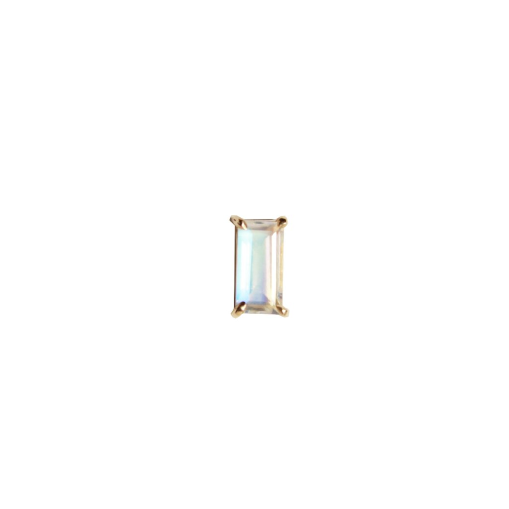 Moonstone Rectangle Studs