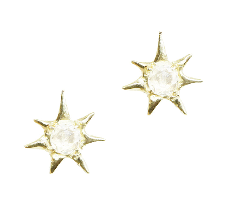 Gratitude Star with White Sapphire Studs