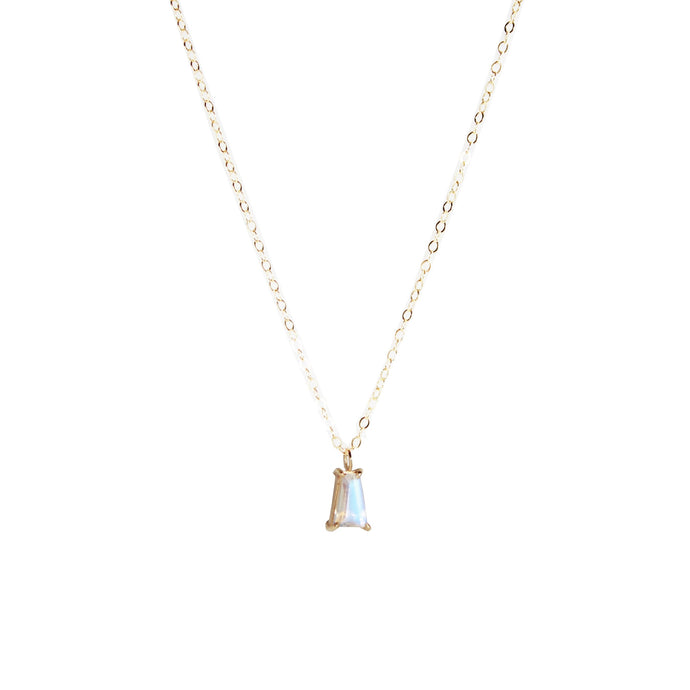 Moonstone Small Baguette Necklace