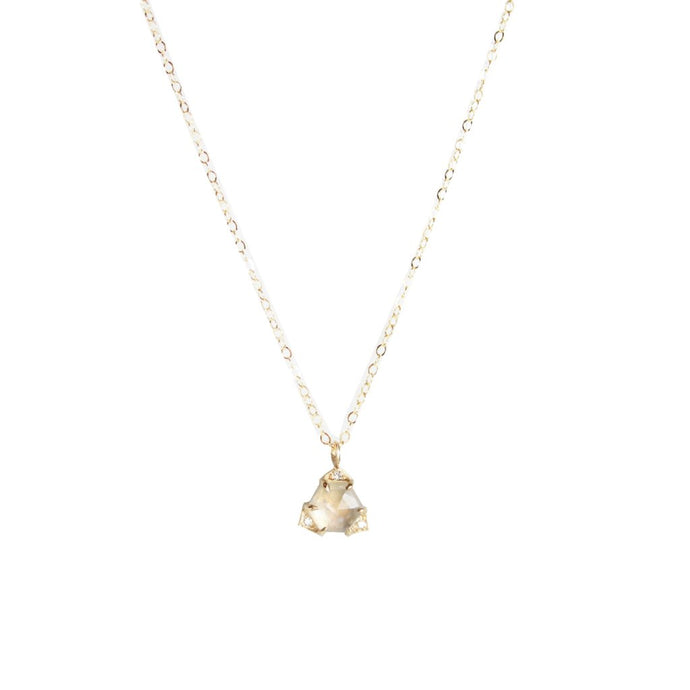 Moonstone Triangle Necklace