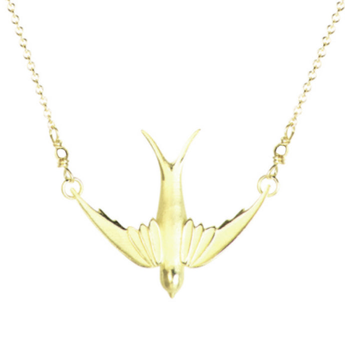 Delicate Swallow Necklace