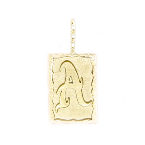 Hand-scripted Ancient Alphabet Necklace A