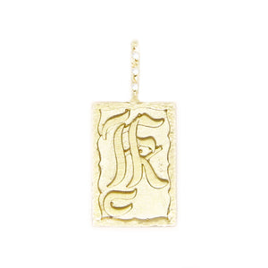 Hand-scripted Ancient Alphabet Necklace K