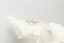 Load image into Gallery viewer, Moonstone Diamond Triangle Ring