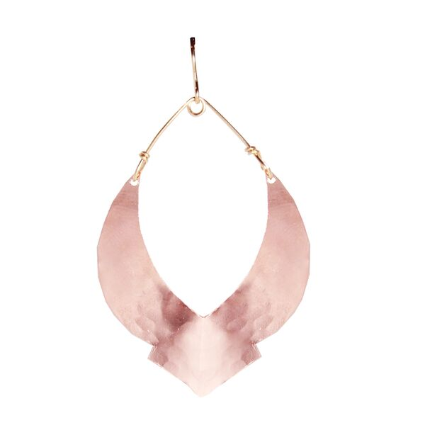 Rose Gold Swoop Moroccan Earrings