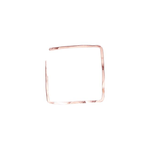 Rose Gold Square Hoops