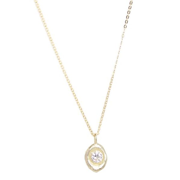 Champagne Round CZ Necklace