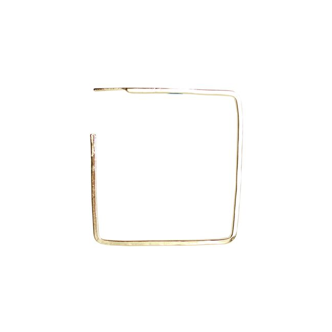 Large Gold Square Hoops