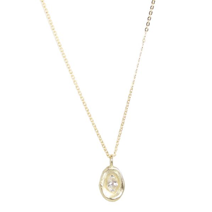 Champagne Oval CZ Necklace