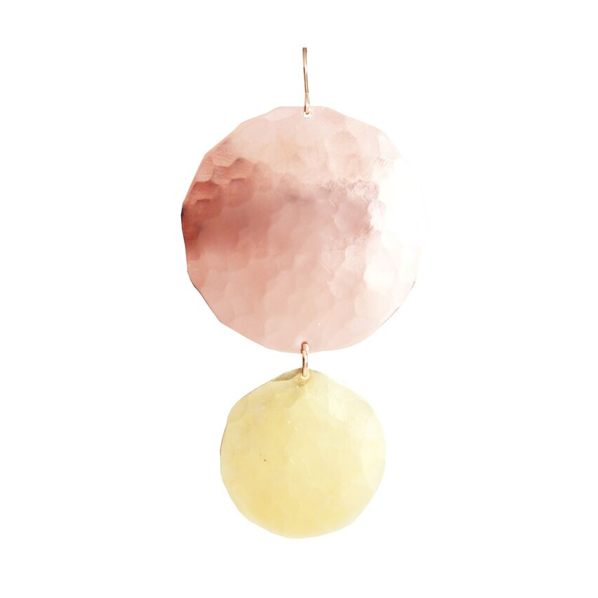 Reverse Gold and Rose Gold Disc Earrings