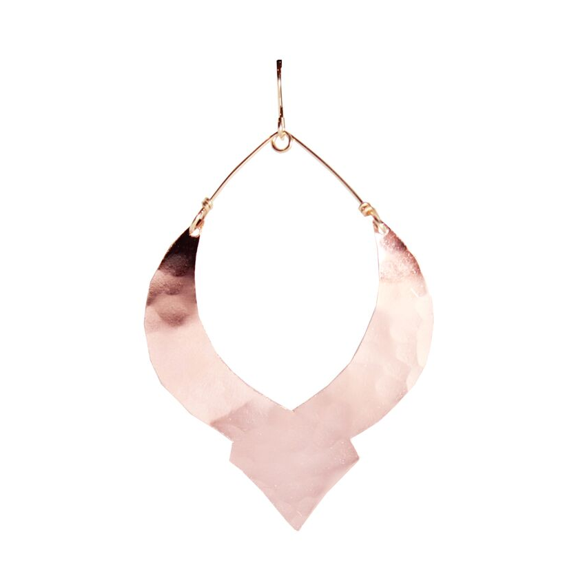 Rose Gold Deep Moroccan Earrings