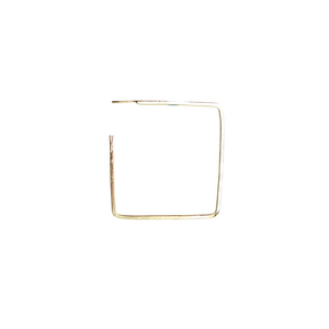 Gold Square Hoops