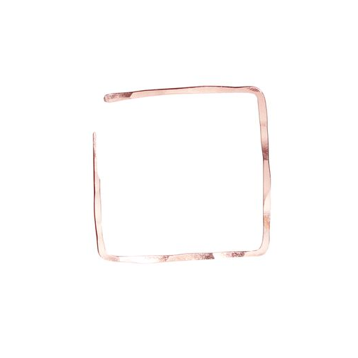 Large Rose Gold Square Hoops