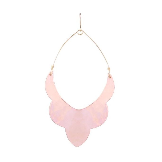 Rose Gold Large Scalloped Moroccan Earrings