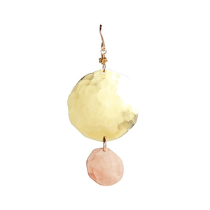 Gold and Rose Gold Disc Earrings