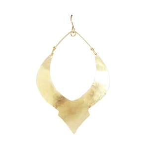 Gold Swoop Moroccan Earrings