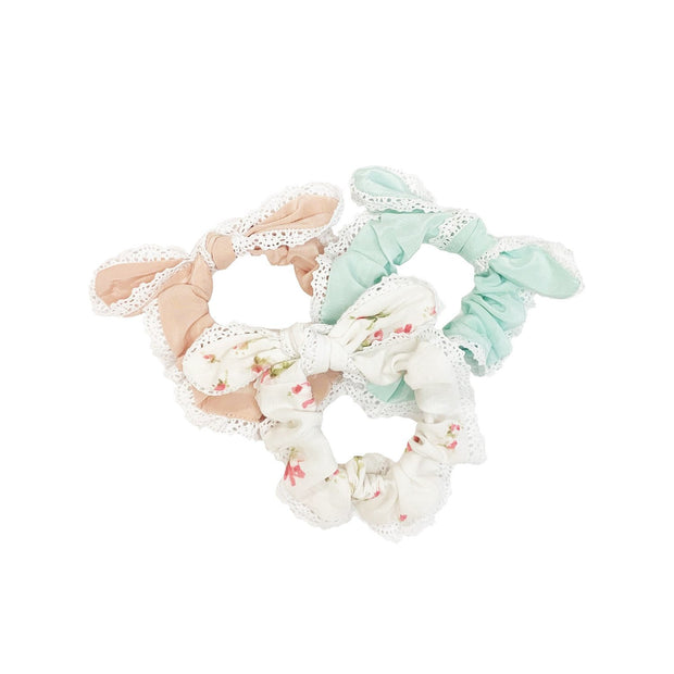 Penelope Bow Tie Lace Scrunchy - Silks / Multiple Colors (Free Shipping Included on all Merritt Accessories Too) 1