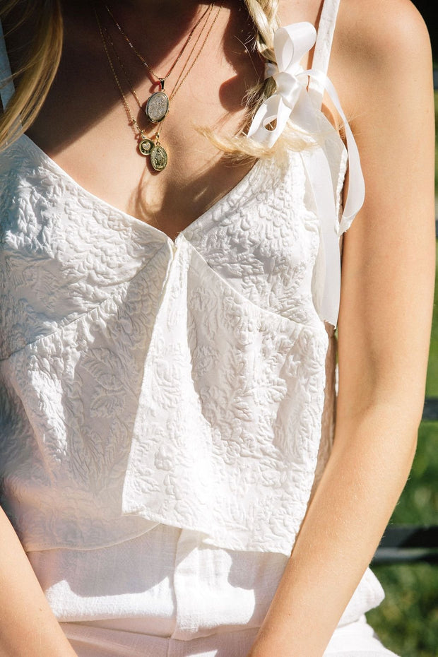Sweet Top - Ivory White Floral 1