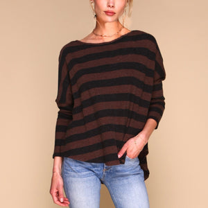 Tom Sweater | Brown & Charcoal (Cashmere Blend)