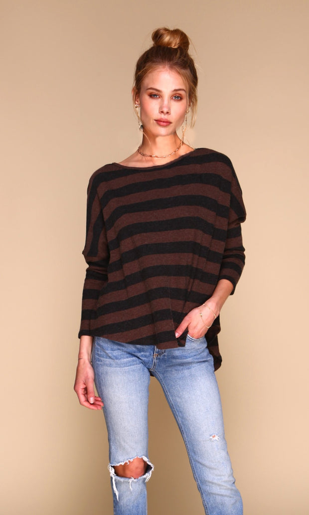 Tom Sweater | Brown & Charcoal (Cashmere Blend) 1
