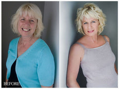 Before and after shots mature women