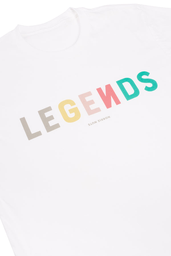 ADULT LEGENDS LOGO TEE - WHITE