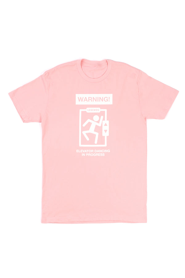 ADULT WARNING TEE- PINK