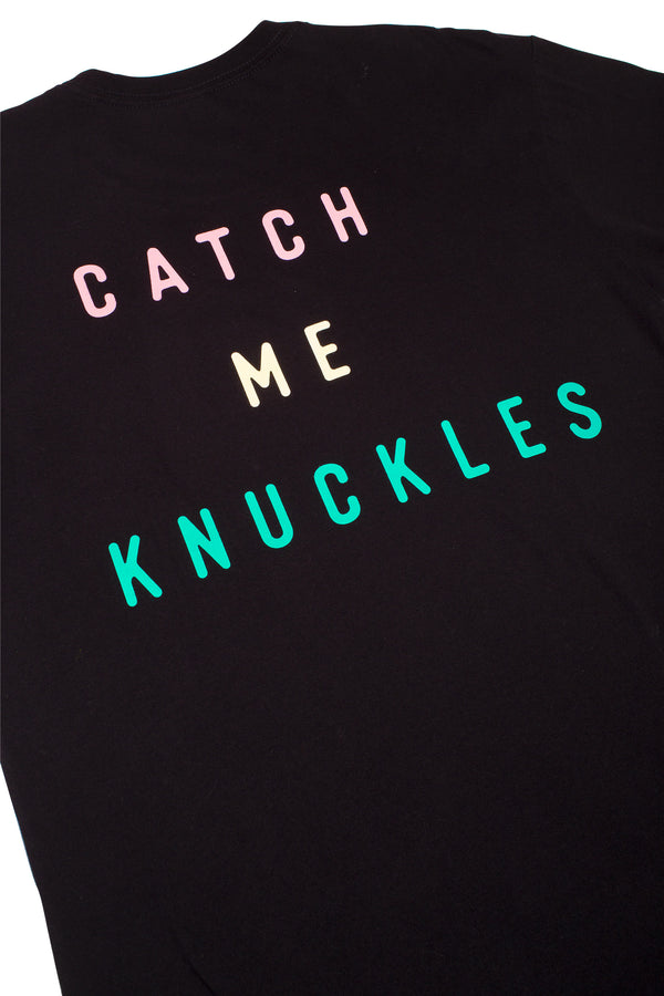 ADULT CATCH ME KNUCKLES TEE - BLACK