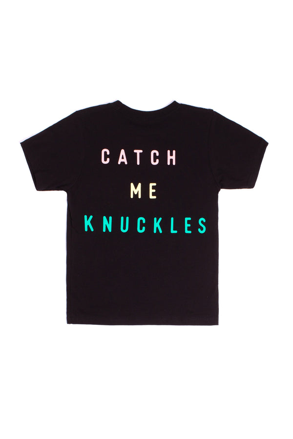YOUTH CATCH ME KNUCKLES TEE - BLACK