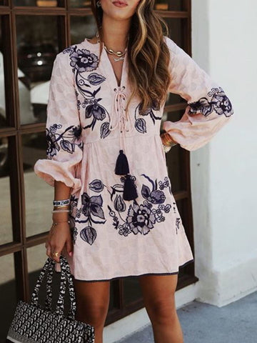 Casual Floral Long Sleeve Printed Shirts & Tops