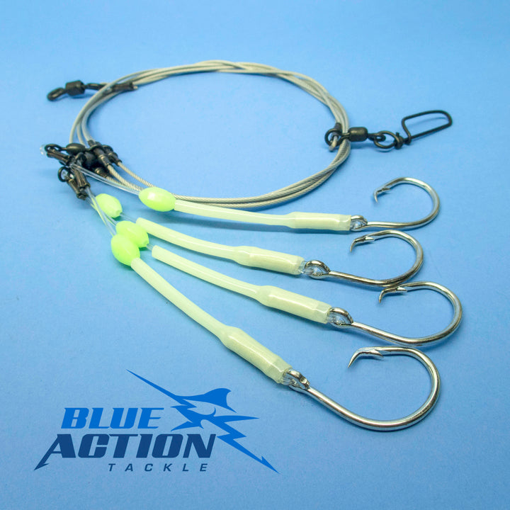 Deep Drop Rigs with Coated Cable - Glow Sleeve