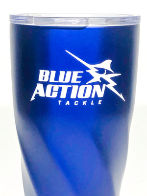 Blue Action Tackle Drink Tumbler