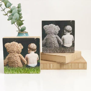 Square Wood Print set of 8
