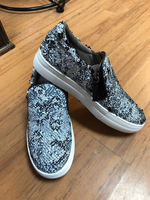 Snakeskin Slip On Shoes
