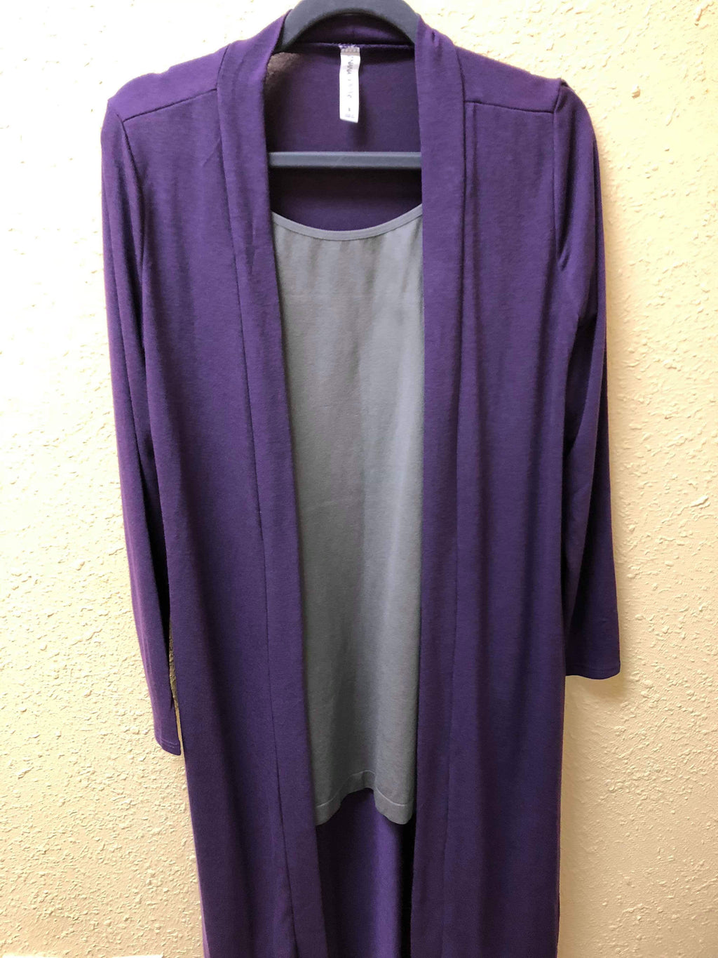Long Sweater Knit Cardigan