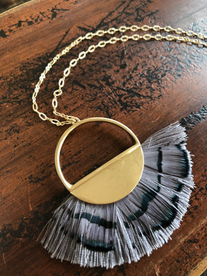 Call Me Darlin Feather/Tassel Necklace