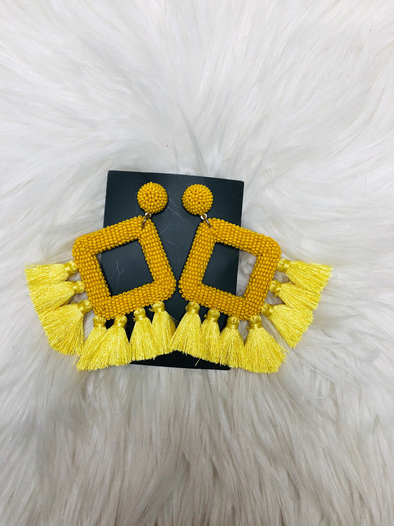 Ellie Fringe Drop Earrings