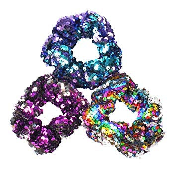 Sequin hair scrunchies