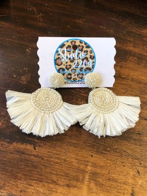 On Cloud 9 Raffia Earrings