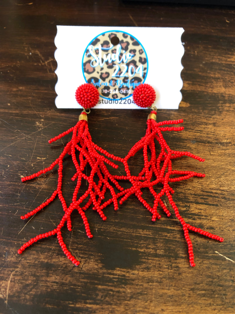 Red Reef Earrings