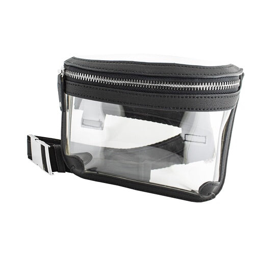 Clear Belt Bag with Black Accent