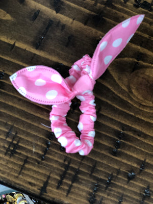 Rabbit Ear Hair Scrunchies