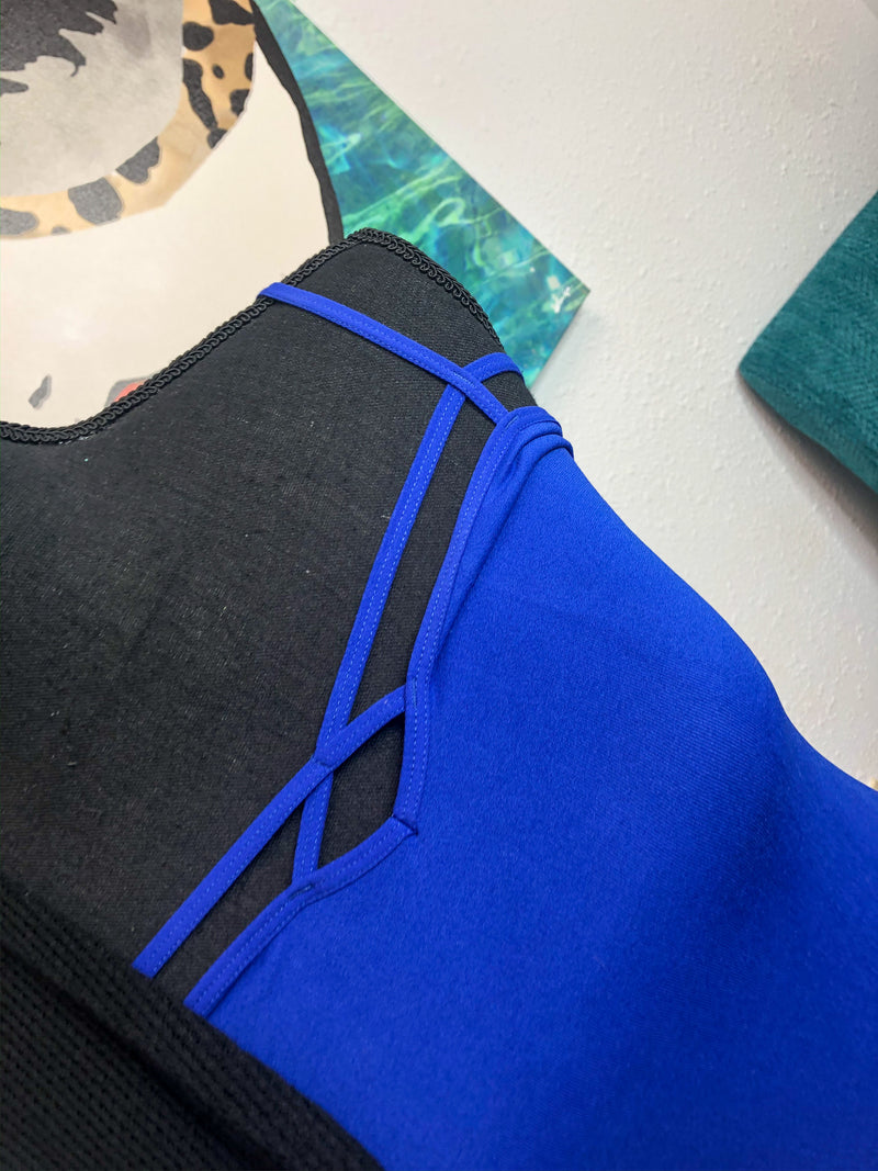 Lace tanks blue