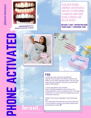 Peachy Clean Phone Activated Beaut Teeth Whitener