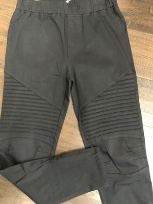 Washed Moto Jegging with Zipper Ankle