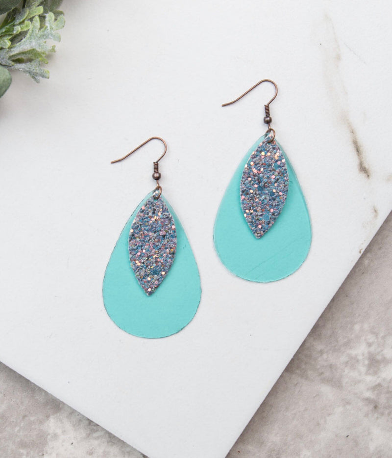 Neon Nights Layered Glitter Earrings