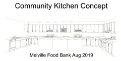 Proposed new Melville Food Bank Community Kitchen. Concept sketched Aug 2019