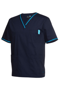 Unisex Contrast Scrub Top (3 Colours)