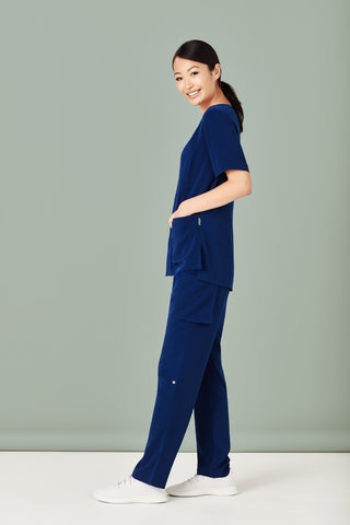 Ladies Straight Leg Roll Up Scrub Pant (4 Colours)